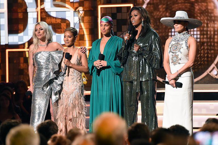 Michelle Obama steals show at Grammy + red carpet best looks