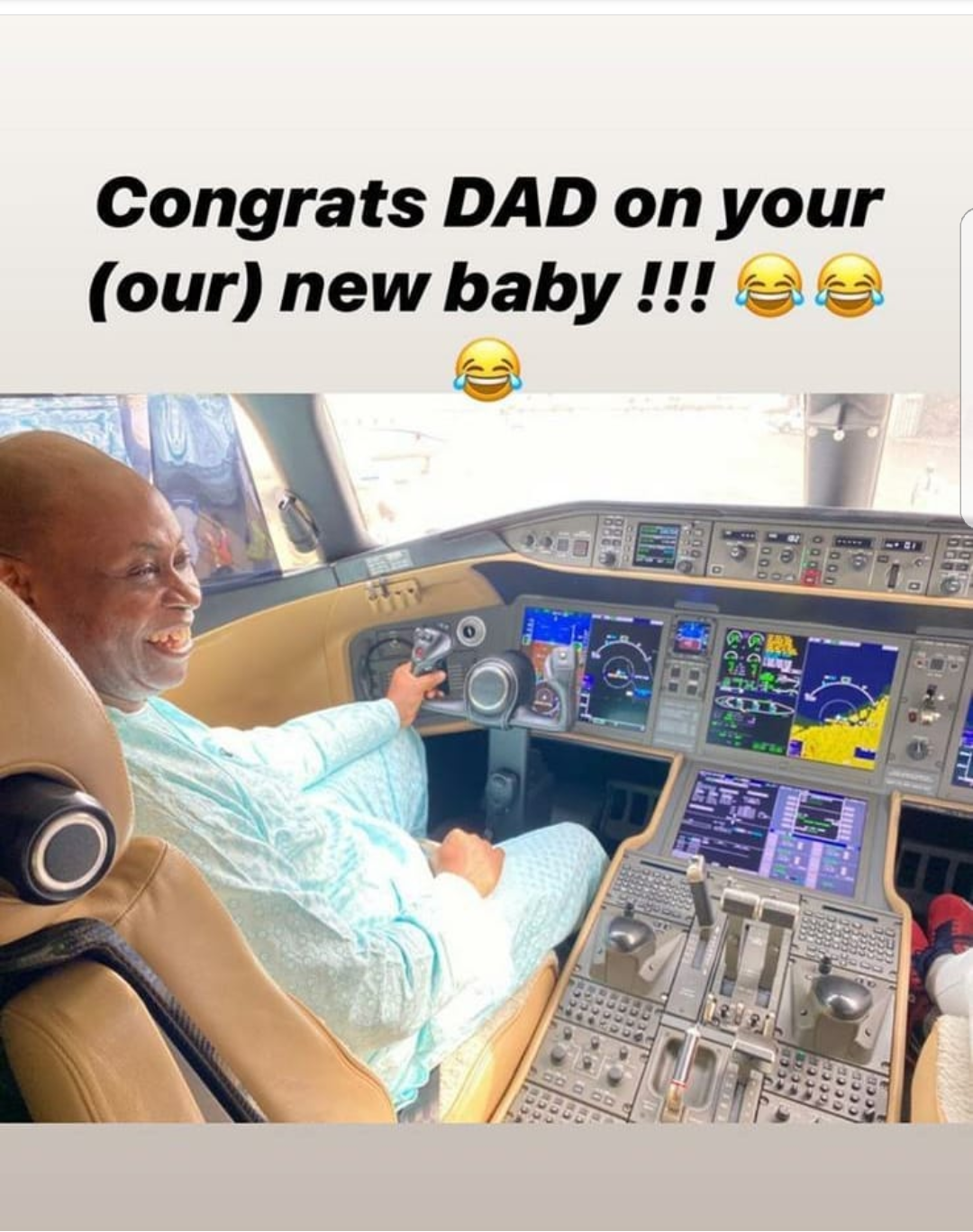 Davido's father, Deji Adeleke acquires another private jet