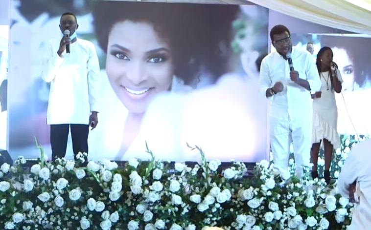 Ituah Ighodalo bids wife, Ibidunni farewell in candlelight service (Video)