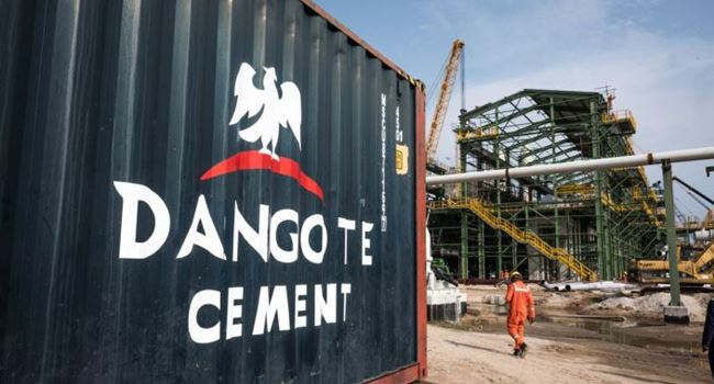 Dangote: Cement price from our factories between N2,450 and N2,510 per Bag, VAT inclusive