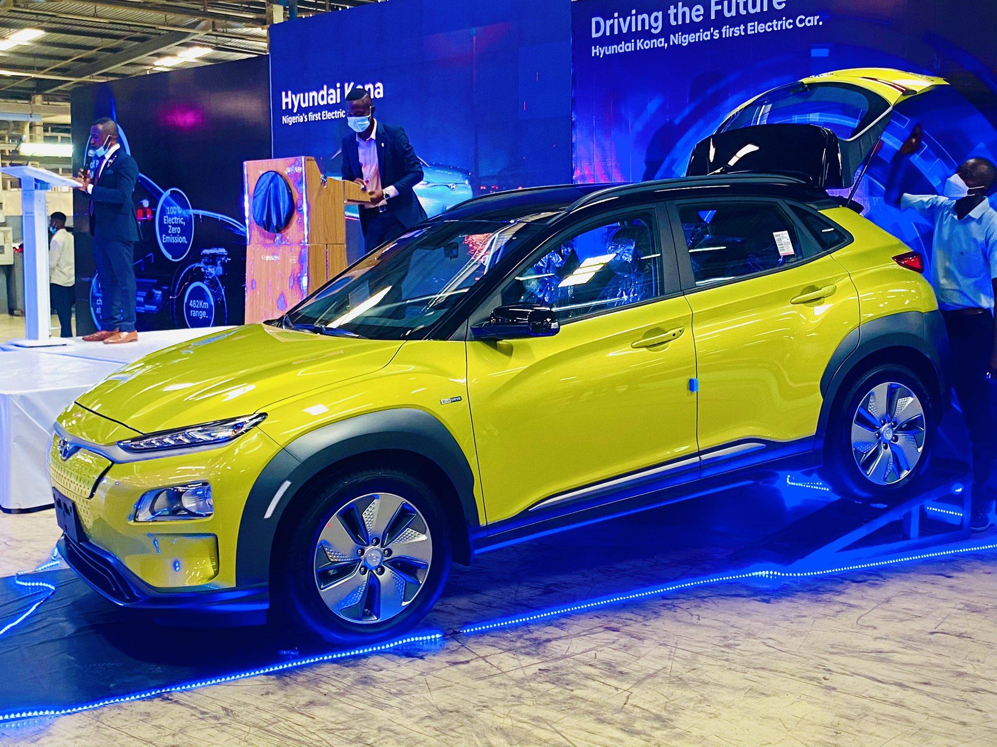 Hyundai motors unveils first electric car in Nigeria