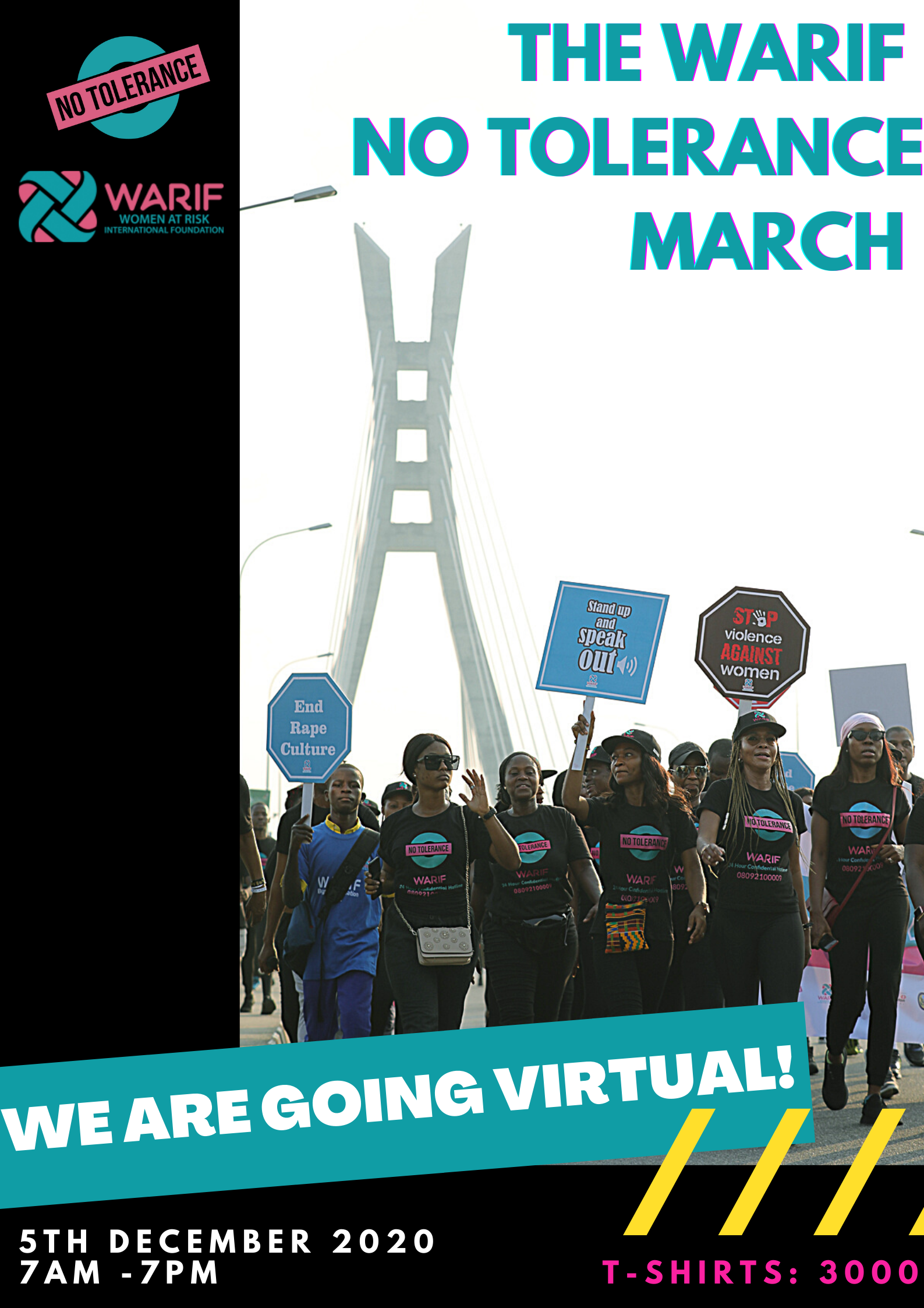 WARIF raises awareness for rape, sexual violence with 2nd edition of 'No Tolerance March'