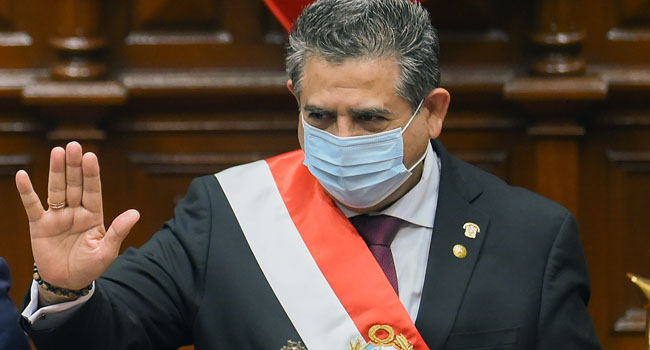 Peru president, Merino resigns amidst growing protest