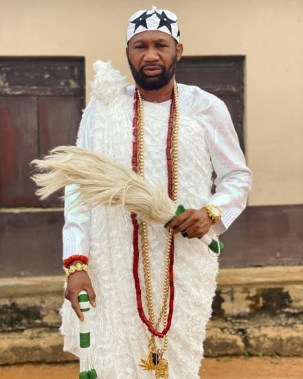 Nollywood actor, Omogoriola Hassan crowned King of Uba land