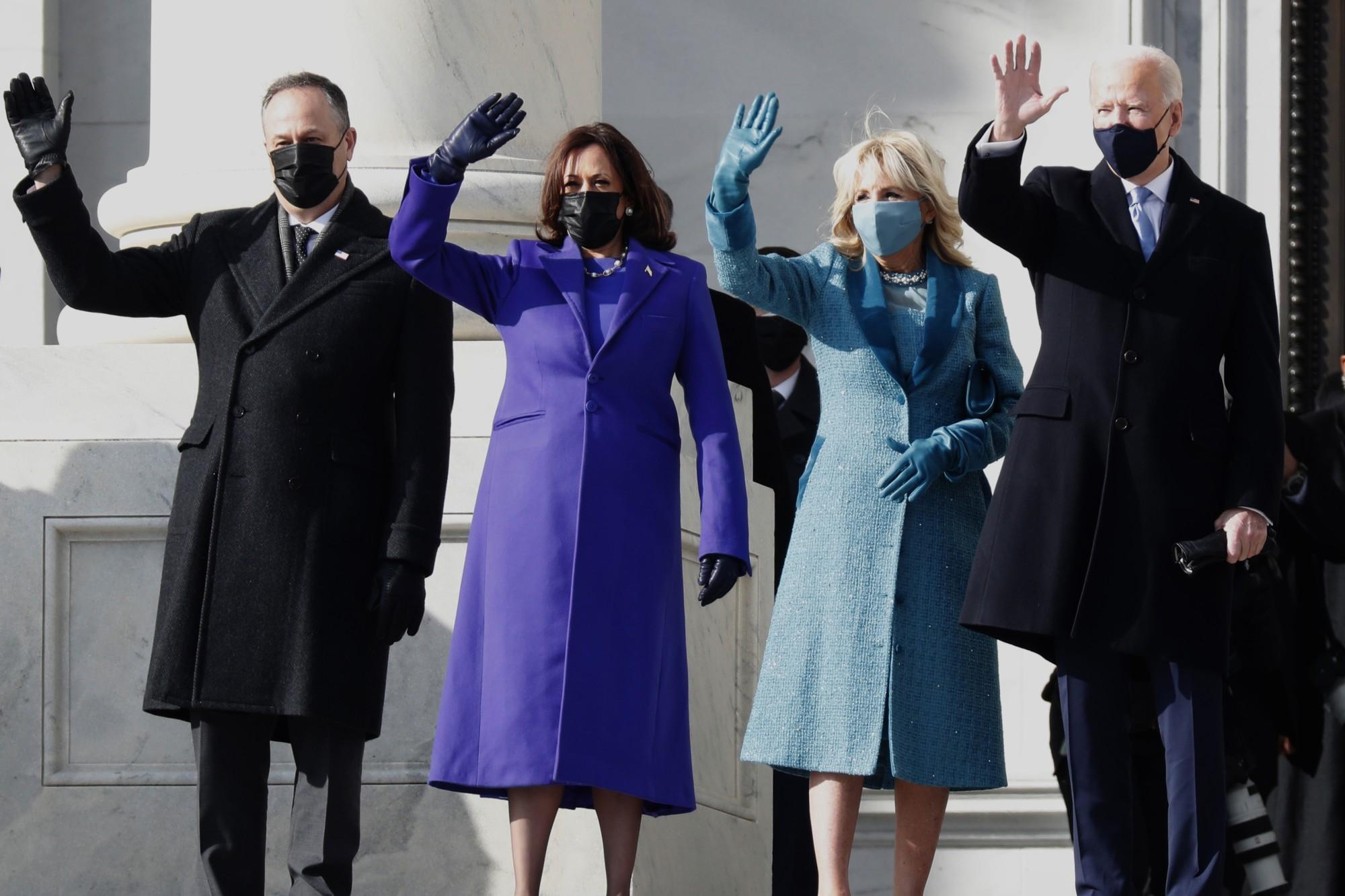 Joe Biden sworn is as 46th US president alongside Kamala Harris as vice president