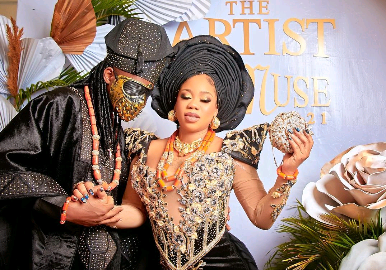 Toyin Lawani weds lover, Segun Wealth in star studded ceremony