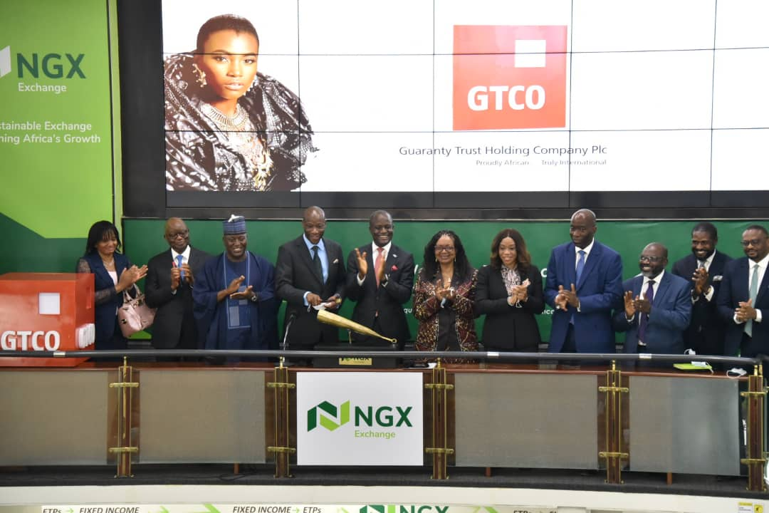 Nigeria Stock Exchange welcomes GT Holding Company Plc with closing gong ceremony