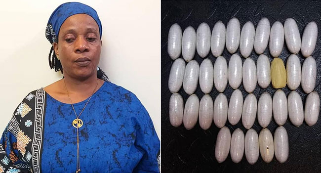 NDLEA arrests woman who hid 35 wraps of cocaine in her underwear at Lagos airport