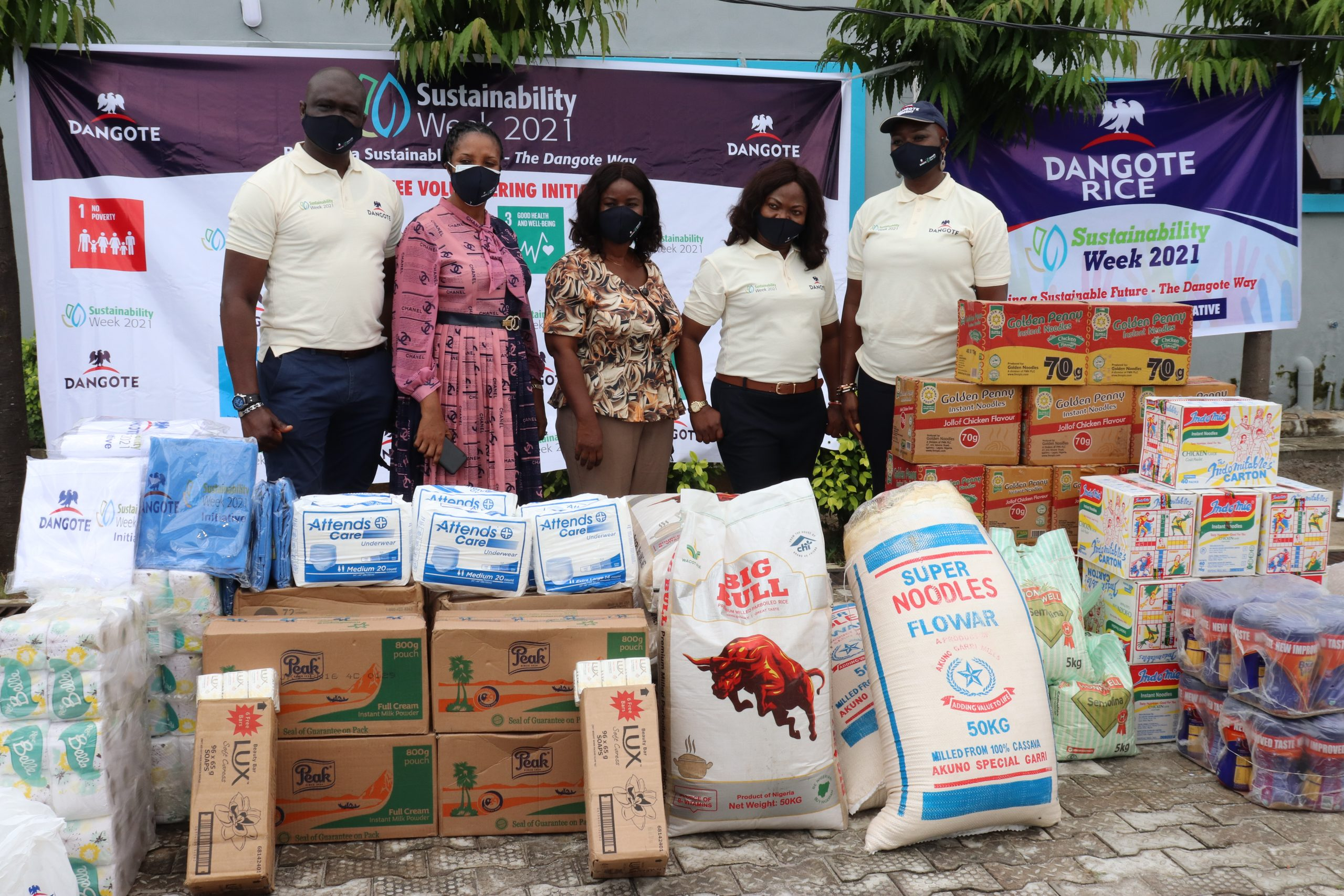 Dangote Group donates to old age home, physically challenged children