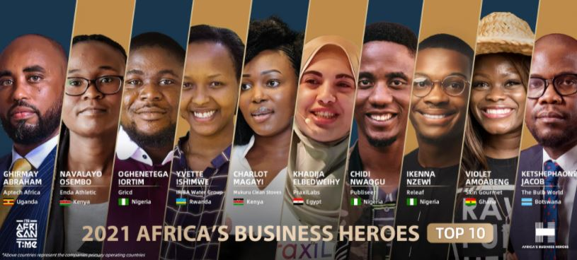 3 Nigerians make top 10 of the 2021 African Business Heroes