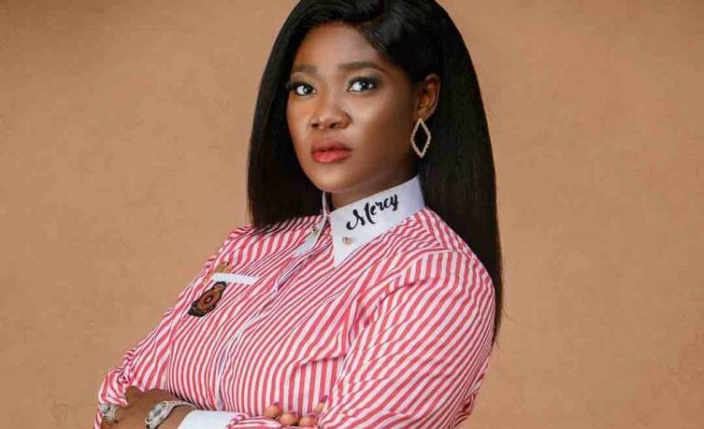 Mercy Johnson reacts after being accused of beating, humiliating teacher in daughter's school with thugs