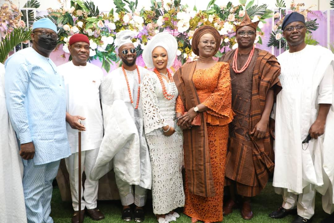 'My son won't cheat on you since you've flat stomach,' Fayose assures son's bride